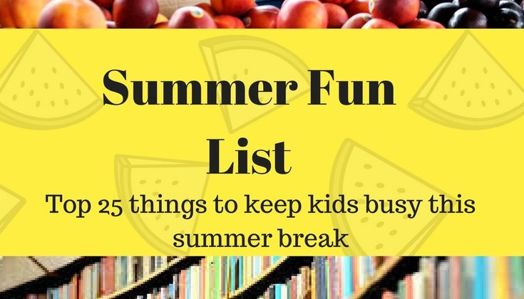 Zoey's Summer Fun List