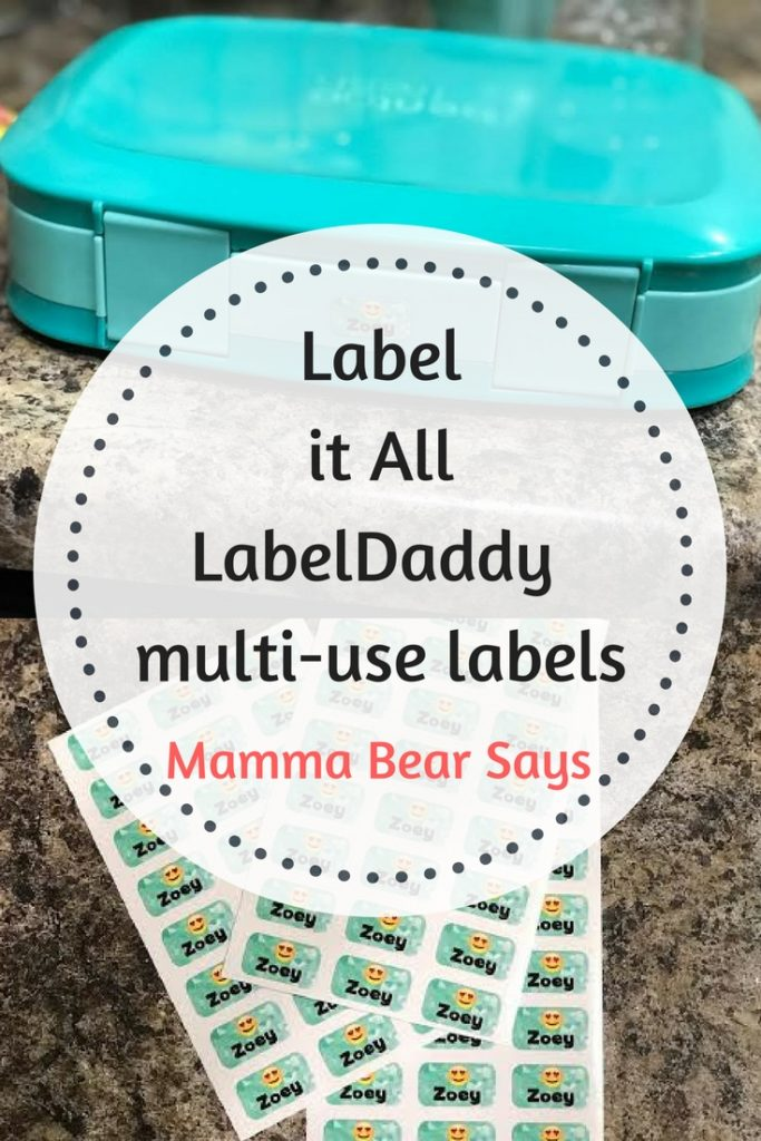 LabelDaddy provides with great multi-use labels. These labels are easy to use & stay! Perfect label for their clothes and school items!
