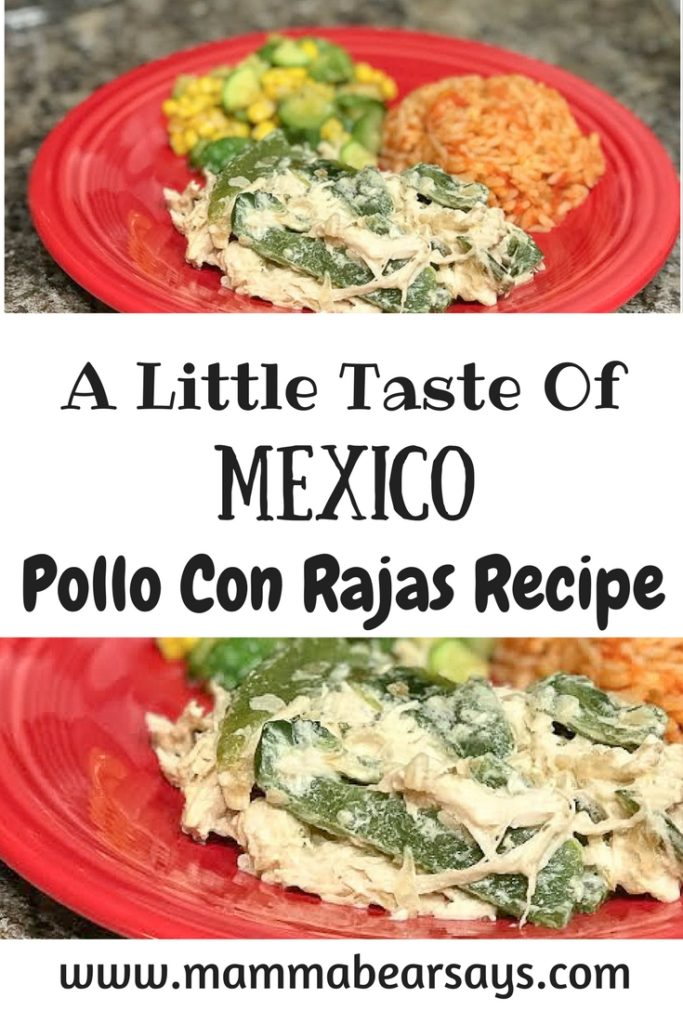 This pollo con rajas recipe will make you feel like you are eating at your grandma's! [ad] Easy to make & deliciously creamy with Nestle Media Crema.