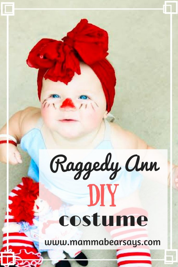 A simple, quick, and cute costume you must try! This Raggedy Ann DIY costume is made with items you can continue to use even after Halloween!
