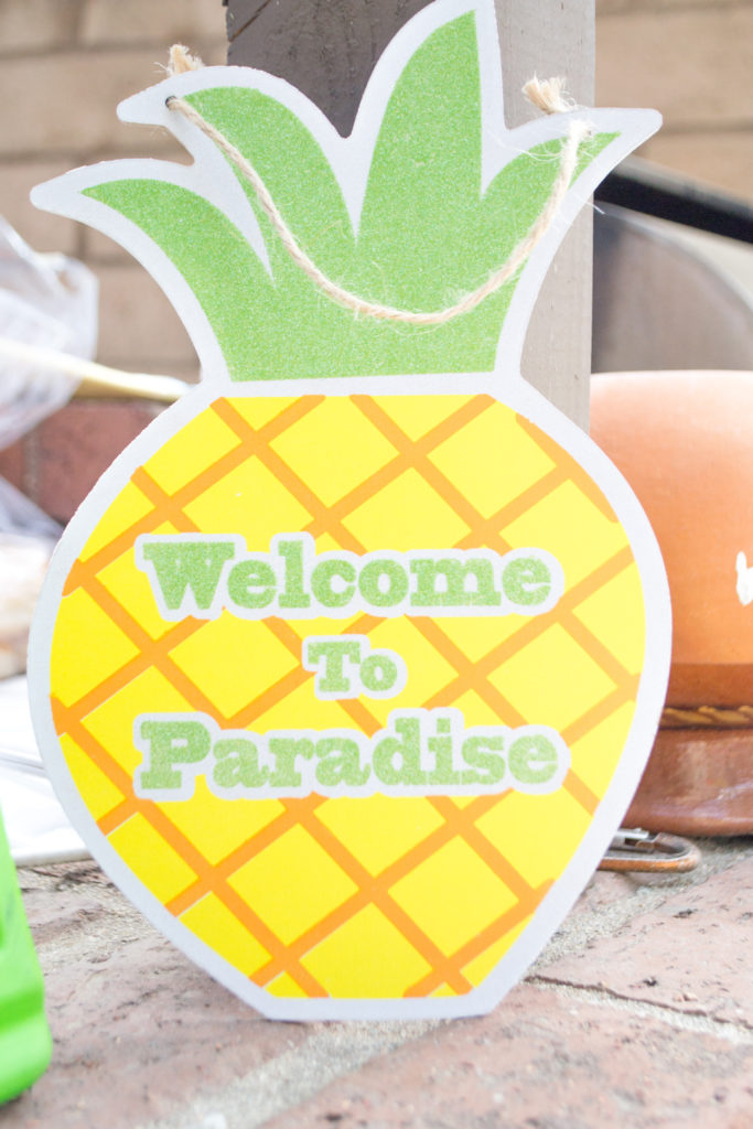 Welcome pineapple sign from dollar tree