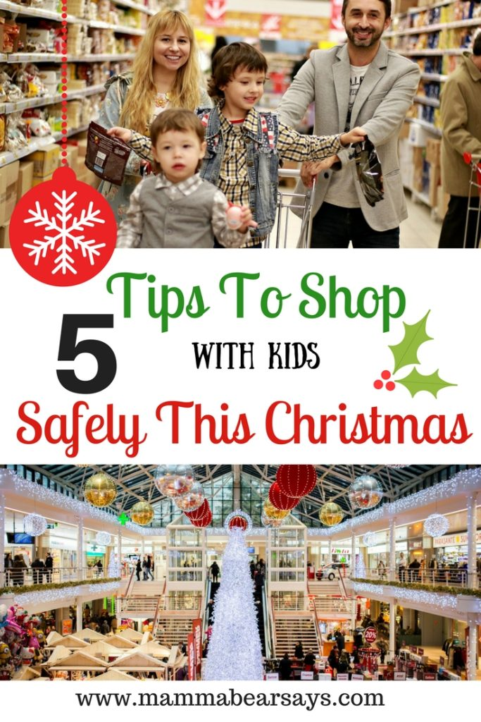 The holidays are upon us & so are the crowds. I have 5 tips to keep your kiddos stay safe while shopping this holiday season.