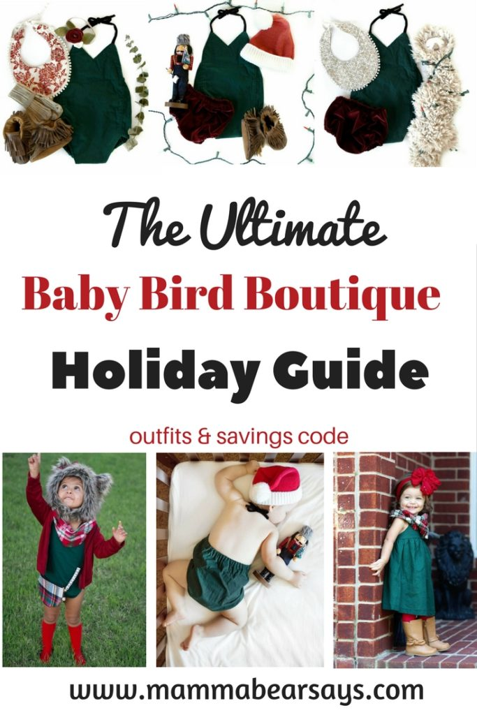 Looking for holiday outfits for your little girls? Read this holiday guide for the cutest outfits from The Baby Bird Boutique & get ready to shop & save! #holiday #holidayguide #outfits #holidayoutfit #handmade #smallshop #babybirdboutique #babybird #kidsclothes #fashionista #fashion