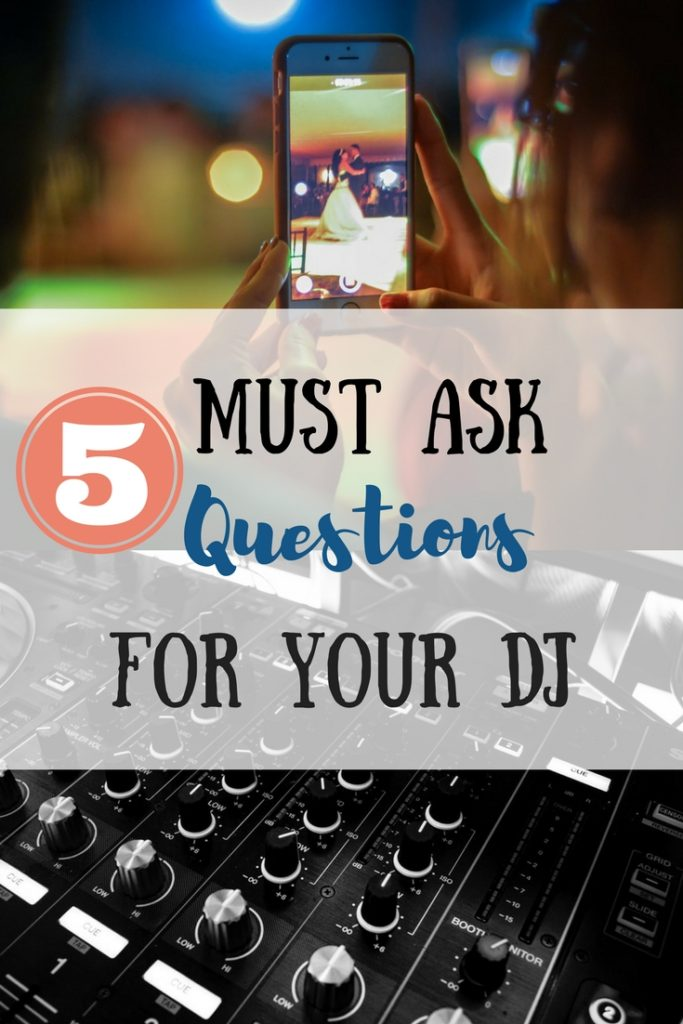 5 Must Ask Questions For Your DJ. dj, wedding, wedding planning, weddings, wedding dance, first dance, bride, bride to be, dancing, dance, music, music playlist, wedding plans
