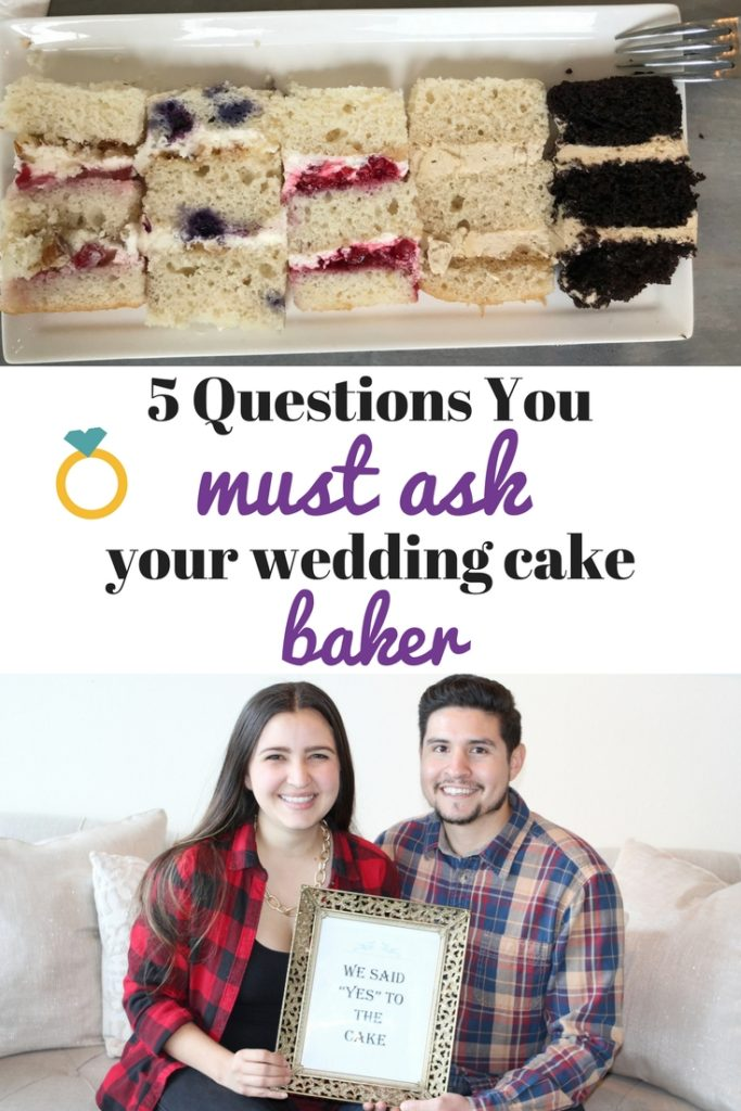 We wanted a wedding cake to be talked about for years to come! We found that in Laura Marie's Cakes! These 5 questions will help you find your dream baker too! wedding cake, cake, cake time, cake tasting, wedding, wedding planning, wedding time, wedding , weddings, bride, bride to be, couple, engaged