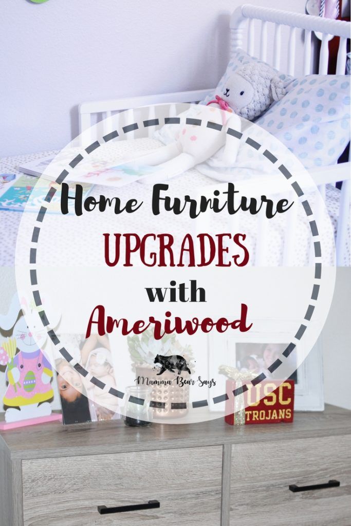 Getting new furniture is a great way to give your home a small face lift. We gave our home a small face lift with furniture from Ameriwood Home and love it! Check out why! #toddlerbed #furniture #homedecor #furnishedhome #home #bedroom #livingroom #officespace #organization #ameriwood