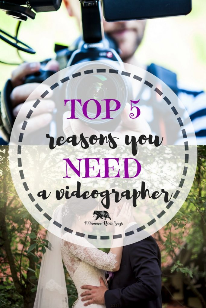 To hire a videographer or not to hire a videographer? Such a tough questions many couples ask themselves. Read my top 5 reasons why a videographer is a must! video, wedding, wedding planning, wedding time, wedding video