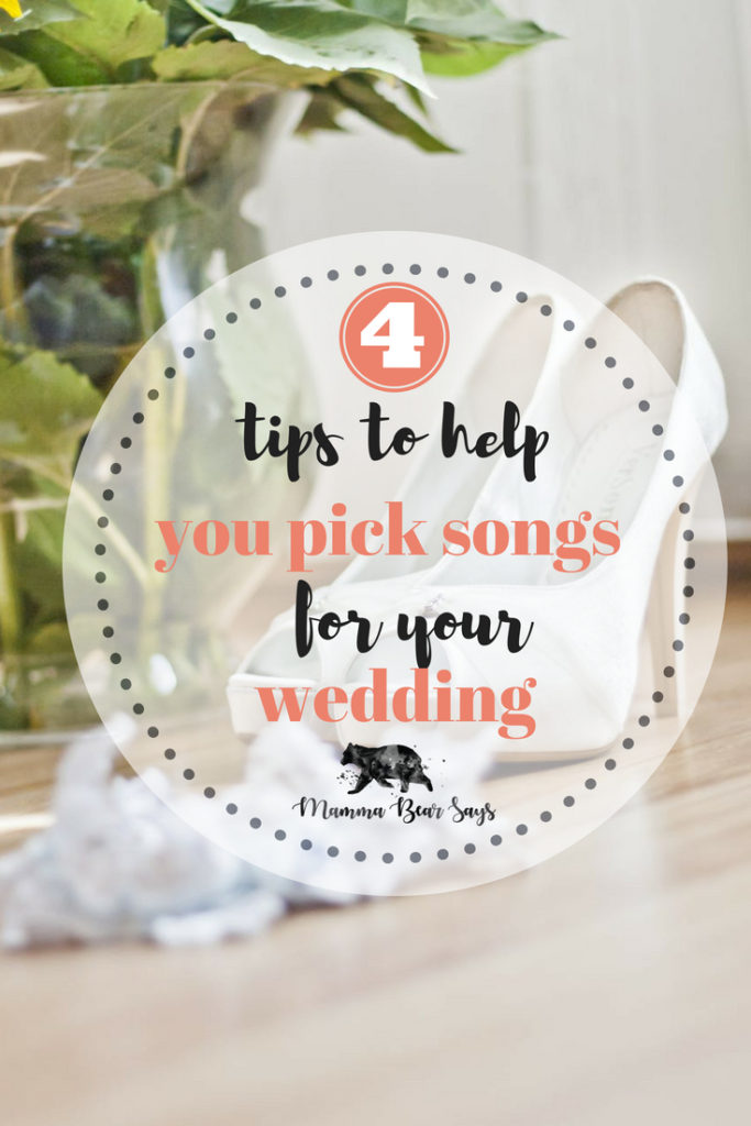So many songs to choose from for your wedding day. Check out these 4 tips to help make choosing those tunes easy and fun!  #wedding #weddingfun #weddingsongs #weddingplanning #weddingdance #firstdance #mothersondance #fatherdaughterdance #dancing #weddingdj #weddingmusic