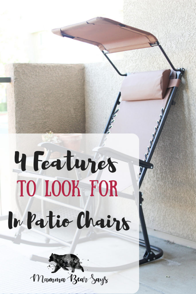 Finding good patio chairs takes time and these 4 features are a must! My Best Choice Products Foldable Zero Gravity Rocking Chair with Canopy hit all 4!