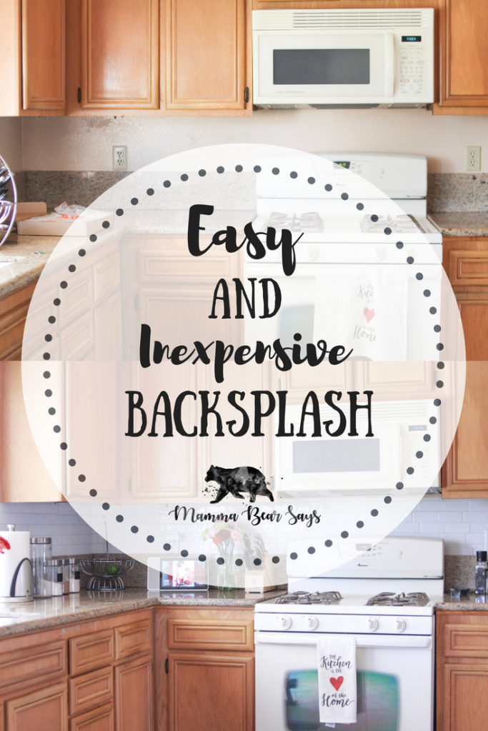 Easy and Inexpensive Kitchen Backsplash - Mamma Bear Says Easy Kitchen Backsplash on easy kitchen cabinets, easy kitchen storage, easy kitchen decorating ideas, easy kitchen table, easy kitchen planner, easy country kitchens, easy outdoor kitchen, easy diy kitchen, easy backyard kitchen, easy kitchen floor, easy tile, easy kitchen upgrades, easy kitchen island, easy kitchen lighting, easy kitchen remodeling ideas, easy kitchen makeovers, easy kitchen remodel, easy stairs, easy kitchen installation, easy kitchen design,
