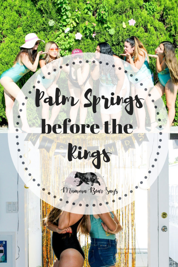 My bachelorette was themed Palm Springs Before The Rings ! A relaxing weekend spent with the people I love. Read all about it and check out our bride gear! palm springs, palmspringsbeforethering, bachelorette, bachelorette party, party, bachelorette weekend, bridal shower, bridal party