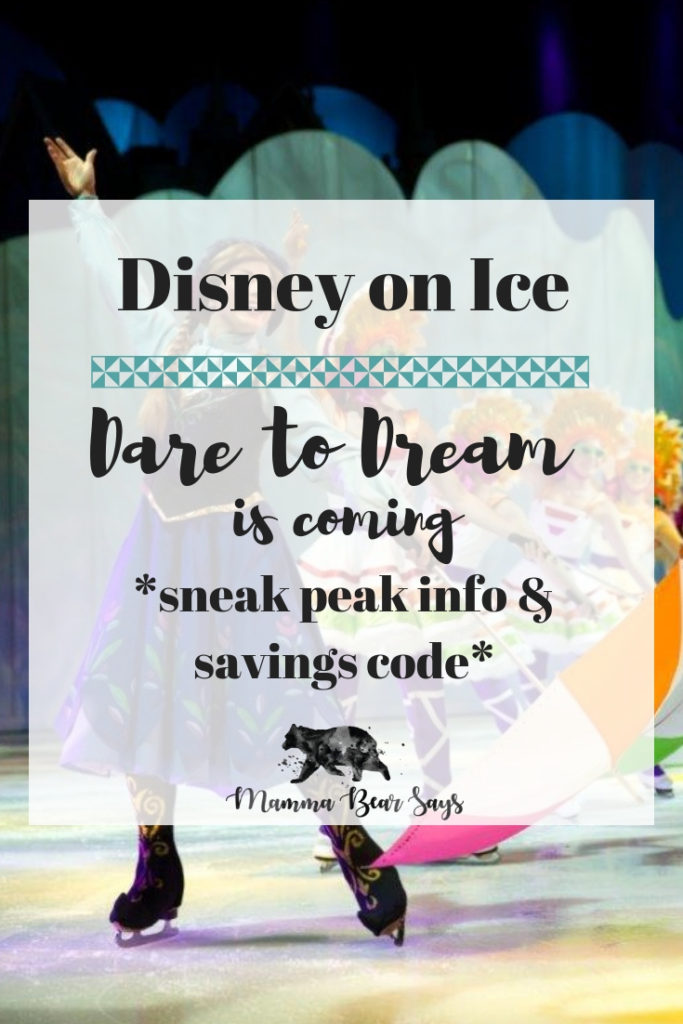 Disney on Ice is bringing to you Dare to Dream. Check out this post for some exclusive information as well as a savings code for your tickets. #DisneyonIce #Disney #DaretoDream #disneyfamily #disneyday #disneyshow #disneyprincesses