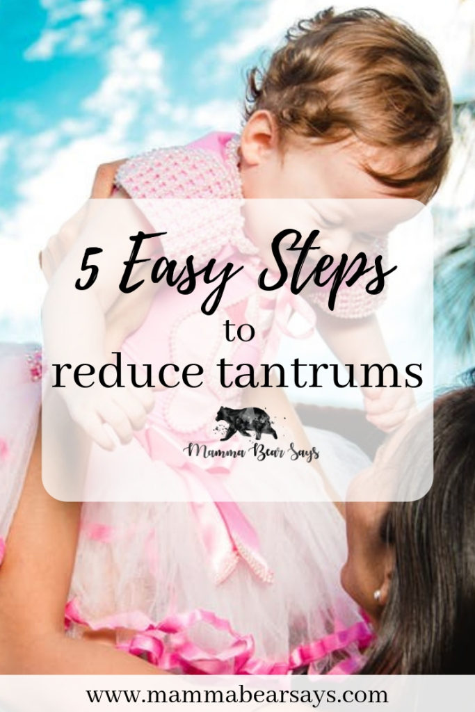 Throwing tantrums is a normal part of our kid's lives. What we choose to do to help them stop is up to us. Try my 5 Steps to reduce Tantrums #parenting #parents #parentlife #tantrums #toddlertantrum #toddlers #toddlerhood #momlife #motherhood #mothering #behavior