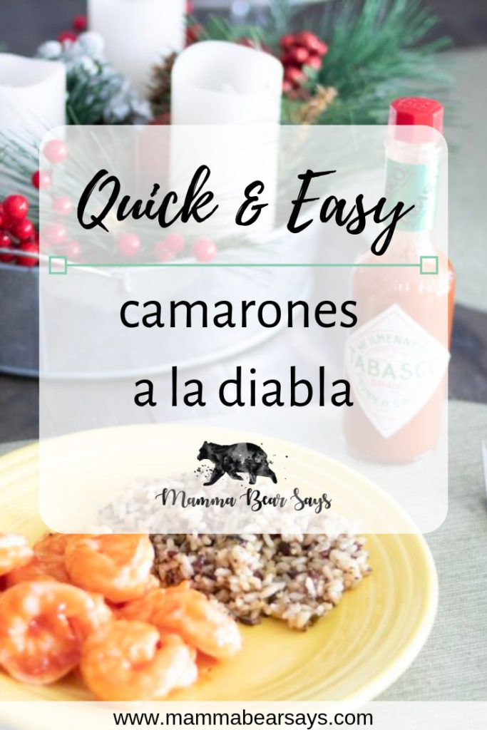 I love deviled shrimp! This quick and easy Camarones a La Diabla will save you so much time. Enjoy this delicious meal with Tabasco. #shrimp #camaronesaladiabla #deviledshrimp #easyrecipes #dinnerrecipes #dinnertime