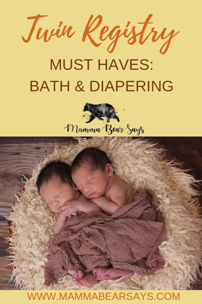 So what do you need for twins? You don't need two of everything. Check out these Bath & Diapering registry must haves #twinpregnancy #twins #twinbabies #twinboys #pregnancy #pregnant #babies #babygear #forbabies #babystroller #babybassinet