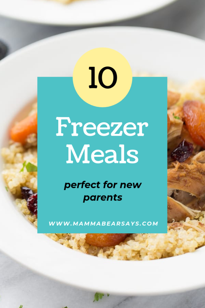 These freezer meals are perfect for any new parents! Because the last thing you need to be worrying about is what to make for dinner! #freezermeals #frozenmeals #freezer #recipes #dinnerrecipes #breakfastrecipes #lunchrecipes #recipes #cooking #cook #instantpot #bakedziti #shreddedchicken #postpartum #delivery #newparents #Parenting #homemaking