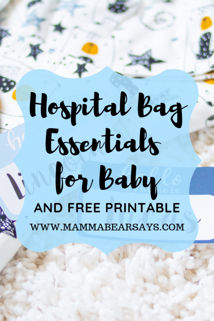 You don't need to pack half your baby's belongings when heading to give birth. This list provides you with the essentials and a FREE checklist just for you #pregnancy #laboranddelivery #hospitalbag #birth #givingbirth #whattopack #postpartum #babies #baby #pregnancy #pregnancyannouncement #pregnant #preggo #printables #Free