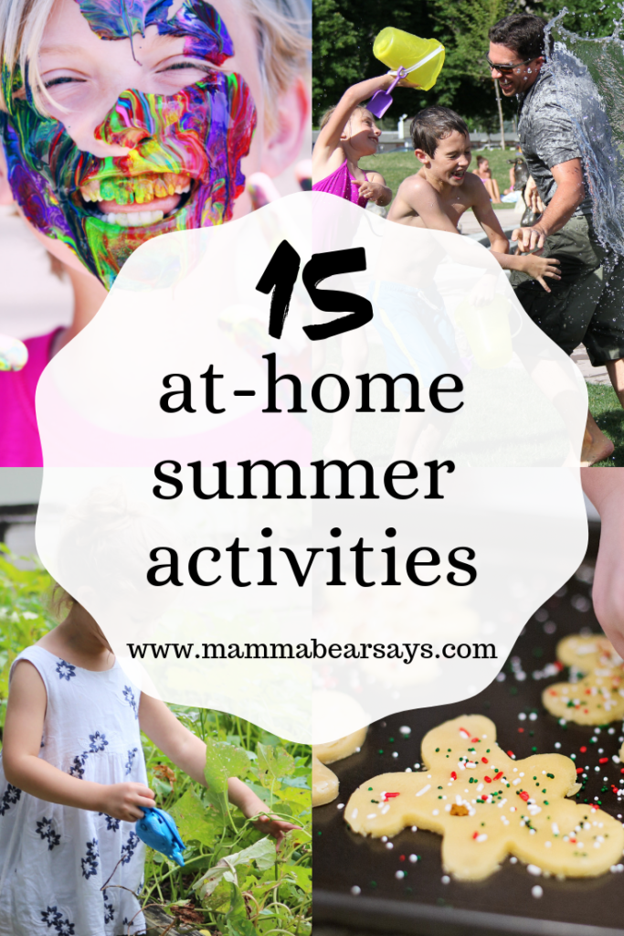 Summer is here and kids need entertaining. I put together these 15 activities you can do with your kids from the comfort of your own home #summer #summerfun #summeractivities #summertime #athome #parenting #forparents #parenthood #summerwithkids #kids #summervacation #summerbreak #summerlist #summerbucketlist