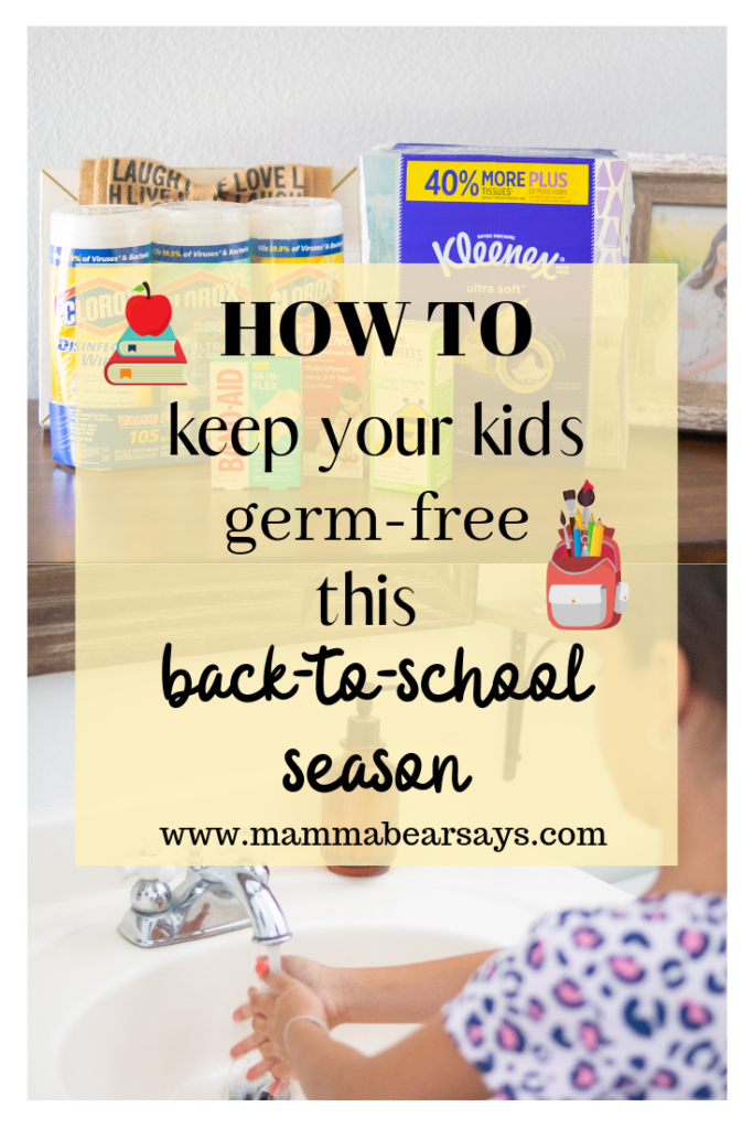 Back to school prep should extend beyond just clothes and supplies. Be ready for those back to school germs with these tips and stock up on my must have products: Kleenex, Clorox, BandAid, Tylenol, and Zarbees all picked up at Walmart with their Online Grocery service #sponsored #backtoschool #BackToSchoolYourWay #bts #backtoschoolshopping #backtoschoolseason #btsseason #shopping #walmart #germs #stayhealthy