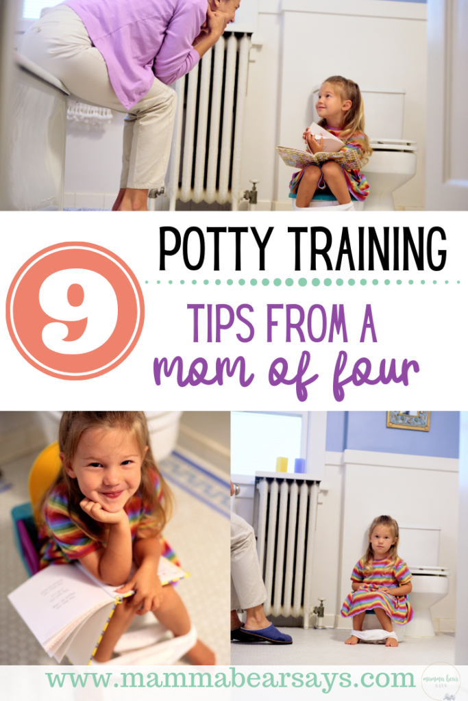 Potty training can seem like a difficult challenge. I gathered 9 of my top tips to share with you and help you with your potty training journey. #pottytraining #potty #toddler #pottytrainingtips #tips #parenting #parentingtips #toddlermom #toddlerparents #toddlers #toilettraining #diapers