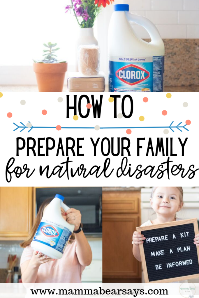 Natural Disasters can hit at any time & without warning. As a parent our priority is always the safety of our family. Check out how my family prepares for natural disasters with the help of @Clorox and visit my new blog post at https://mammabearsays.com/2019/09/cloroxdisasterkit/?utm_source=KarenMartinez&utm_medium=Pinterest&utm_campaign=DisasterPreparednessMonth to learn more about how you can be prepared. #ad #RedCrossReady
