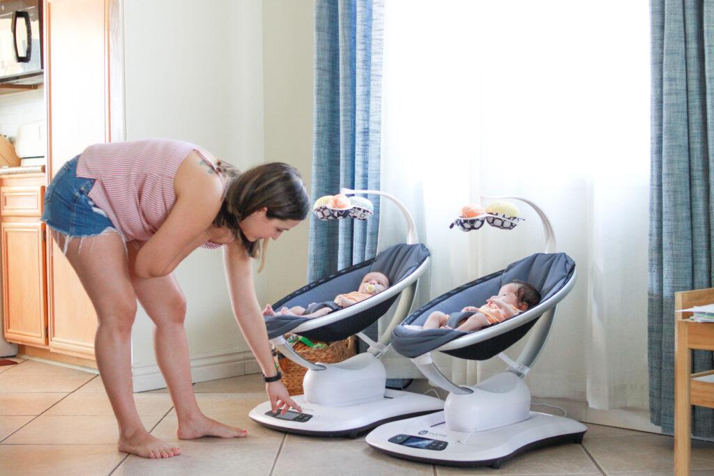 Mamaroo swings and babies