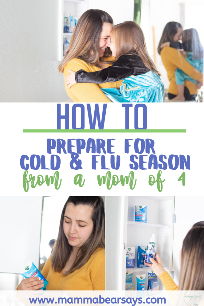 It is cold and flue season! As a mom of 4 and with Vicks I have a few trick and tips up my sleeve. So how do I prepare for the cold and flu? Read to find out! #NewWayToVapo