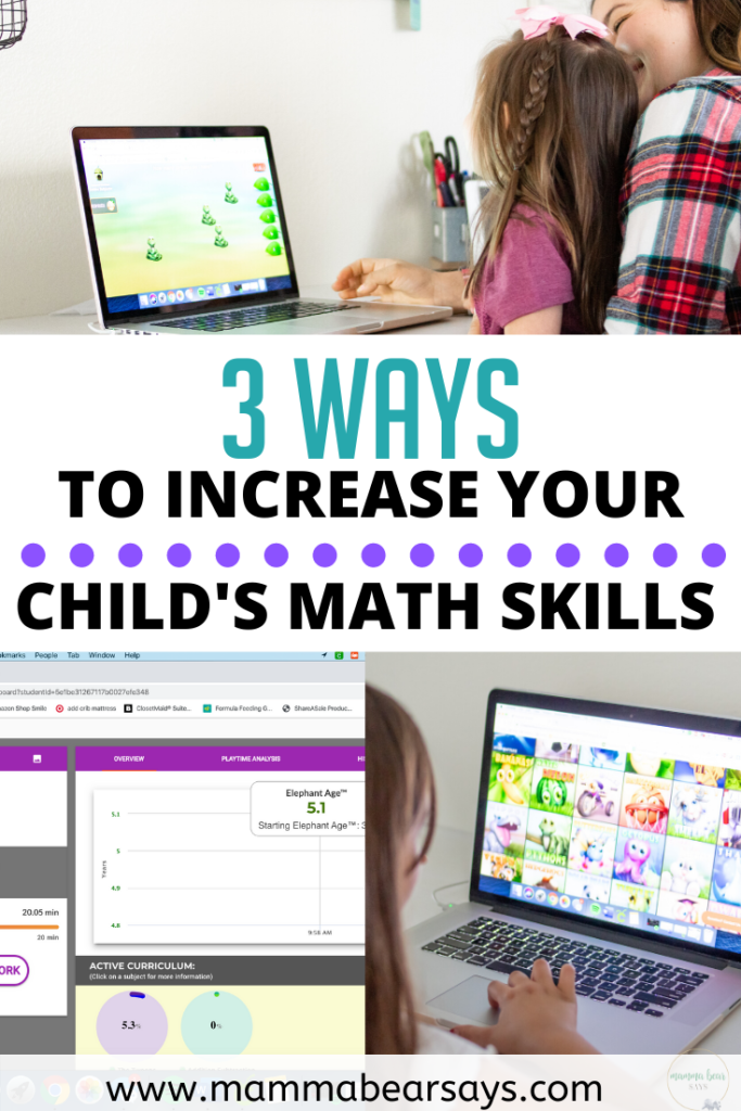 Want to know the ways you can help increase your child's math skills from home? I put together these 3 simple ways and how we use Elephant Learning! #Sponsored #learning #math #mathskills #learningmath #learn #mathtime #mathematics #kidsmath #counting #adding #subtraction #addition