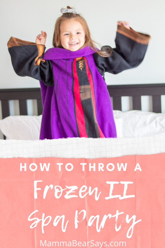 Girl with Frozen 2 throw