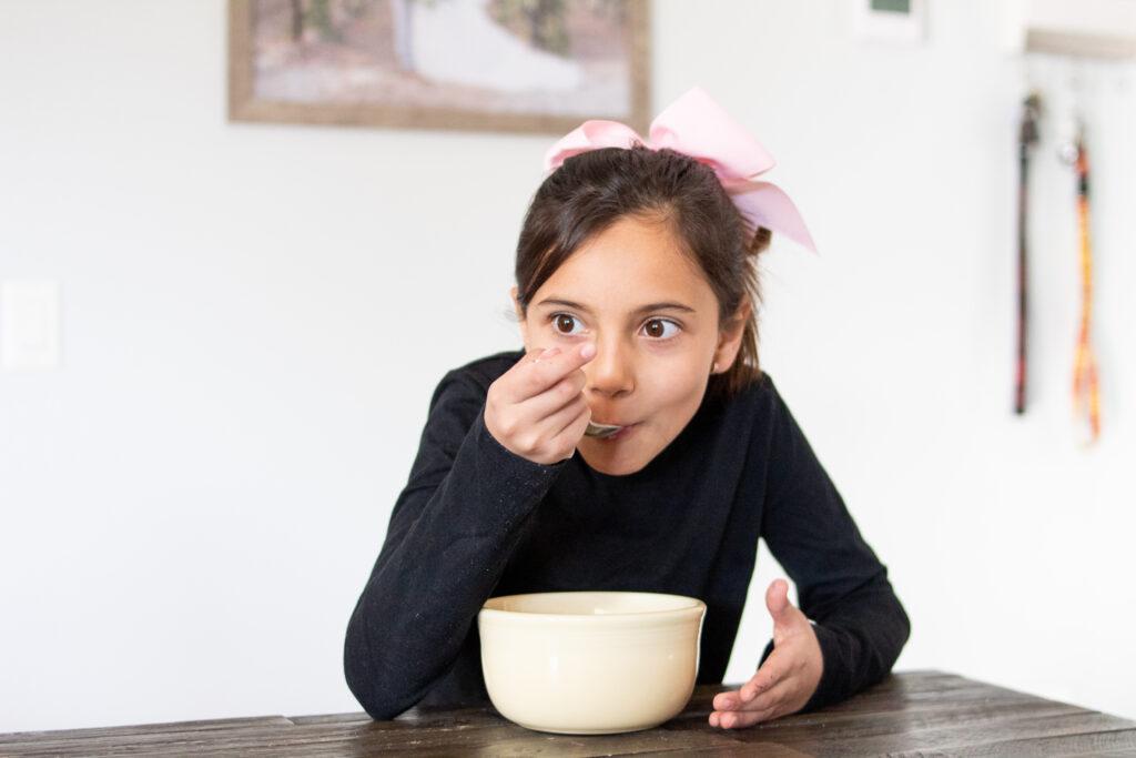 girl eating ceral