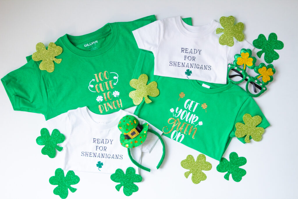 St. Patrick's Day shirts with Cricut Explore Air 2