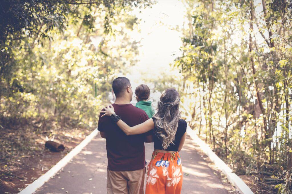 family walks reduce anxiety