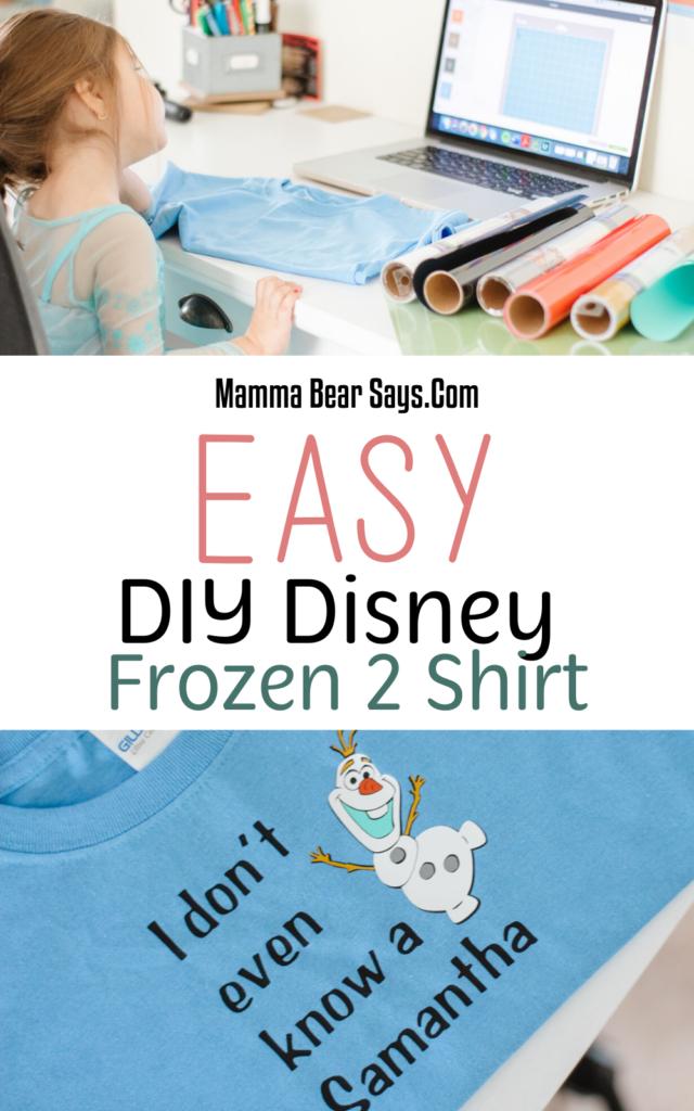 DIY Frozen 2 Shirt