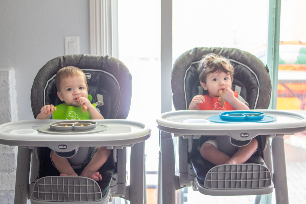 babies in high chairs