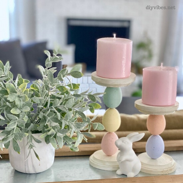 diy easter candle holder
