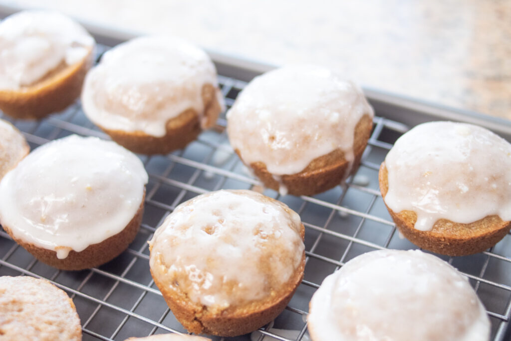 lemon muffins glazed
