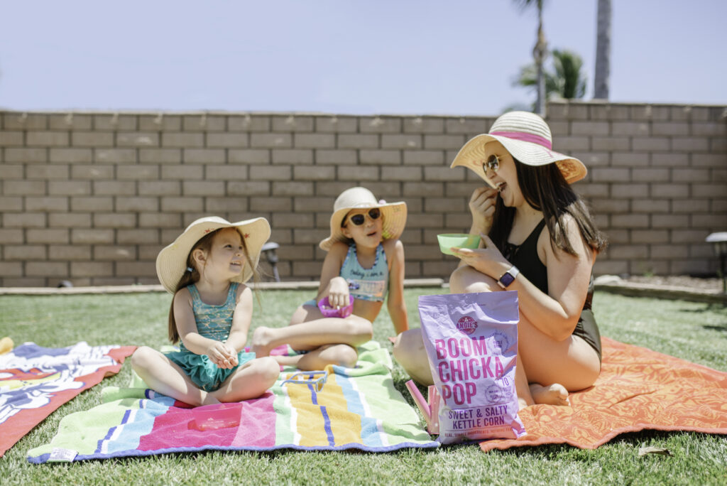 snacks at a pool party