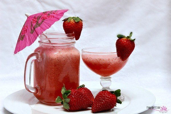 healthy strawberry drink
