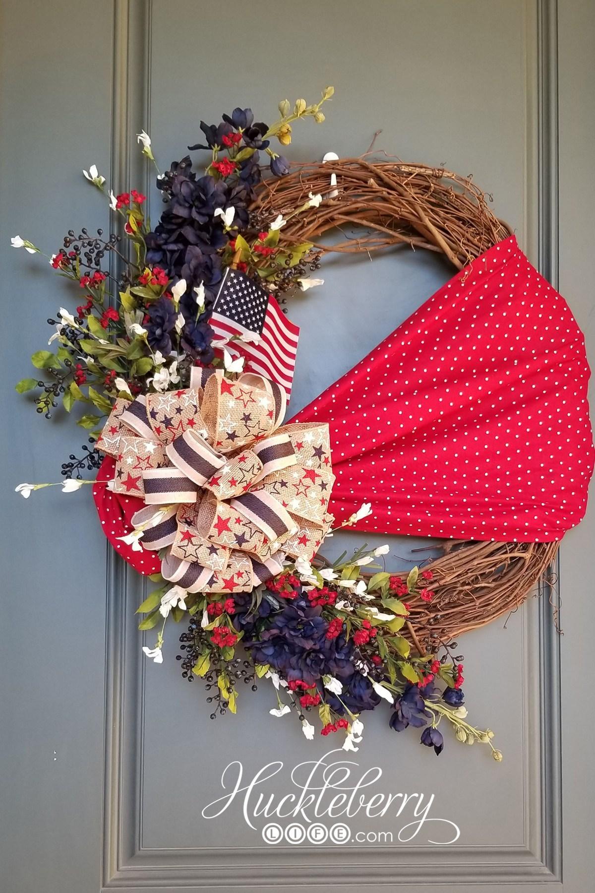 4th of july decor wreath