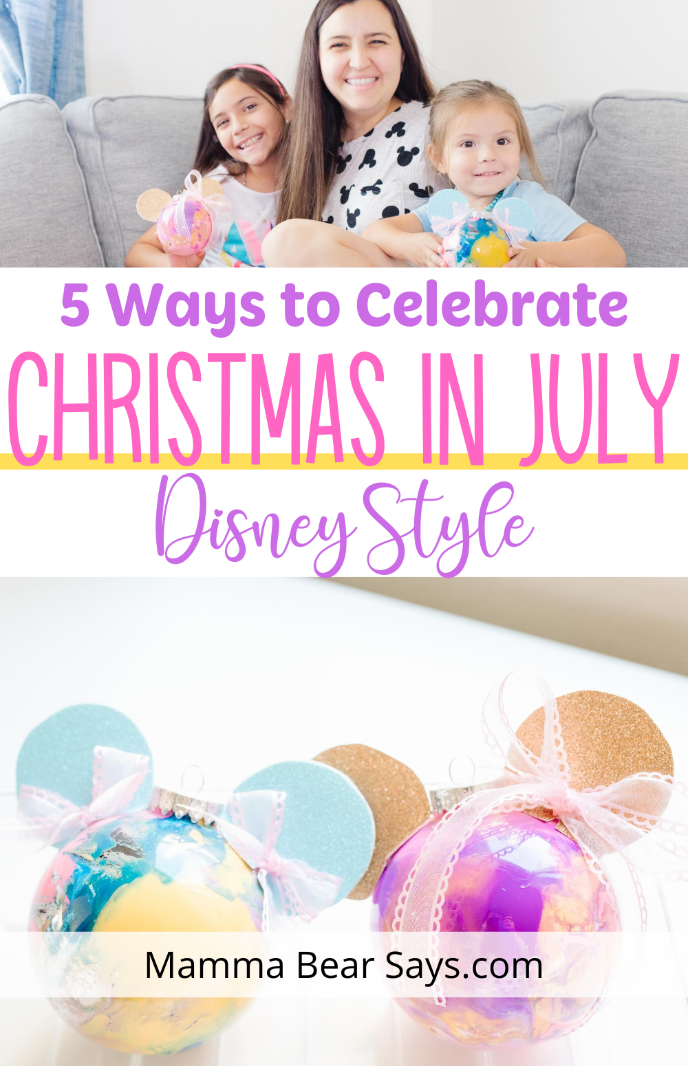 Christmas in July is here! We were so excited to take part in some super fun Disney themed Christmas in July fun this year! #ChristmasinJuly #xmasinjuly #xmas #Christmas #july #holidayseason #christmastree #christmasornaments #disney #disneymom #disneyfamily