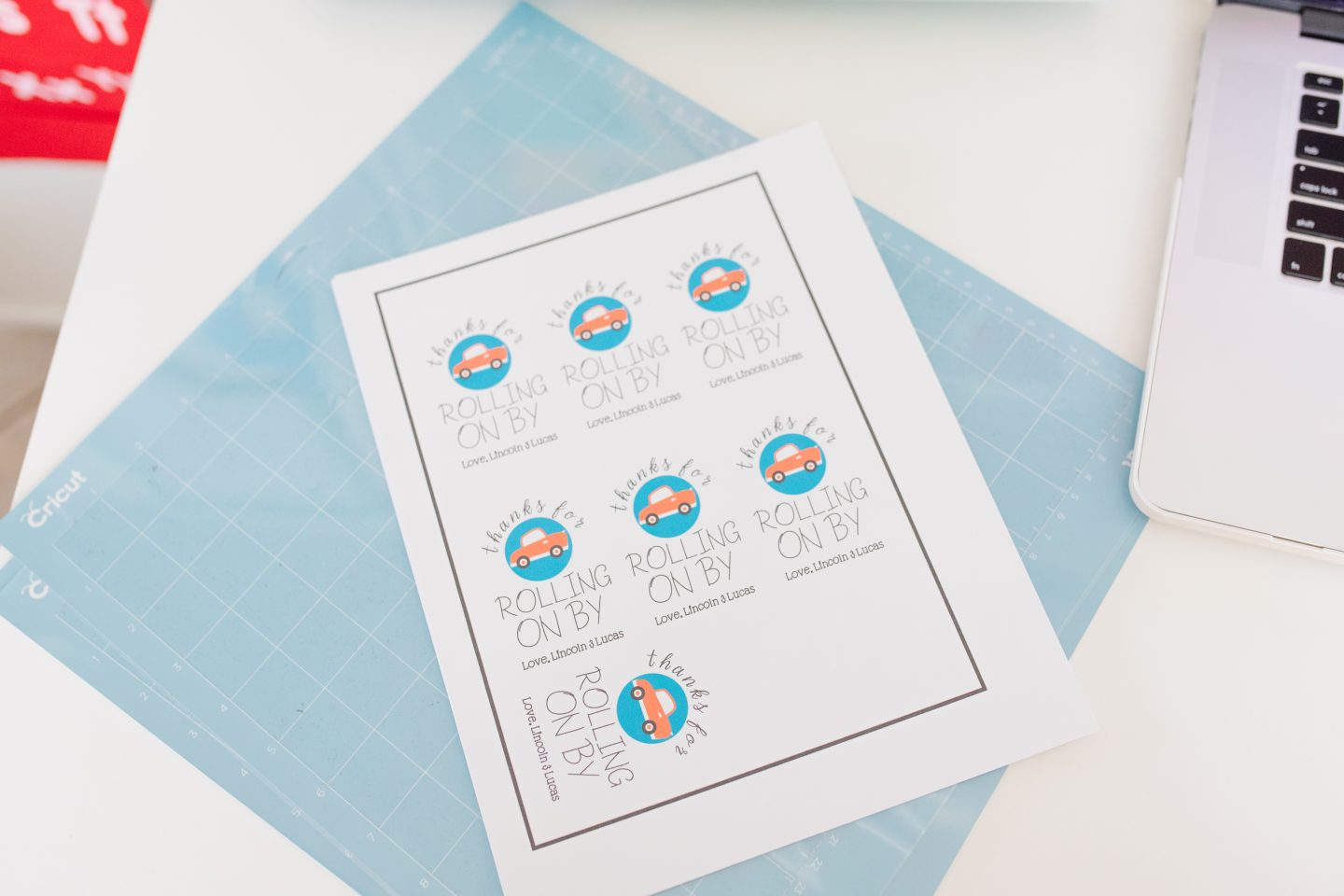drive by party favor tags printed