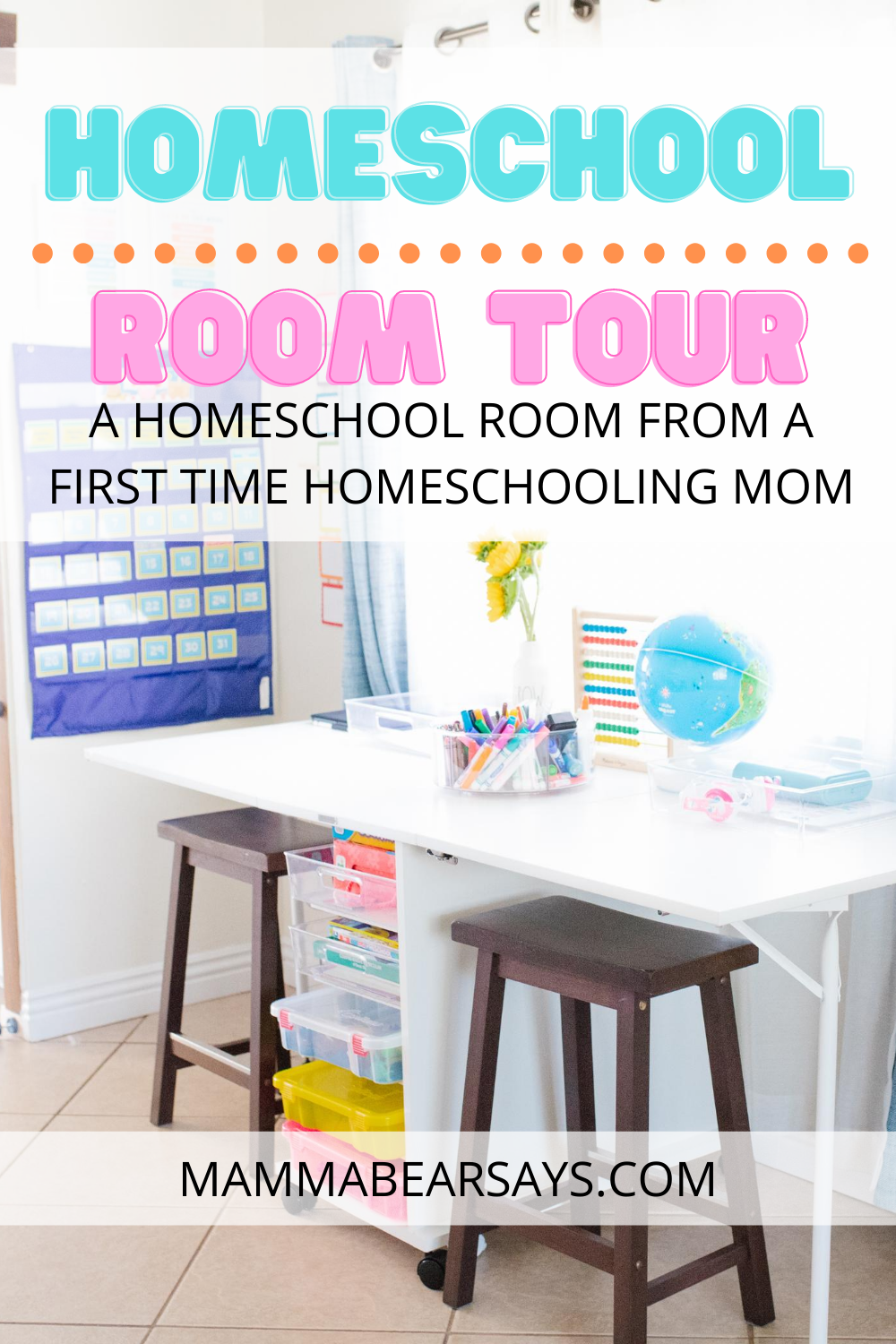 Homeschool room tour is ready! All the details to help you set up your own homeschooling area! Parents are getting ready to start their first year of homeschooling or distance learning. Check out our homeschool room design for this school year. #Homeschool #homeschooling #homeschoolroom #schoolroom #homeschoolroomtour #homeschoolroomideas #homeschoolideas #homedesign #homedecor