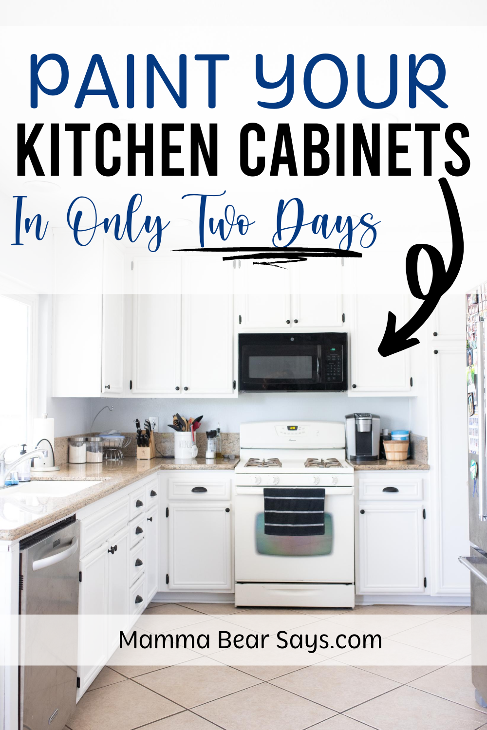 how to paint kitchen cabinets in only two days
