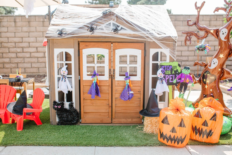 kids playhouse halloween decorations