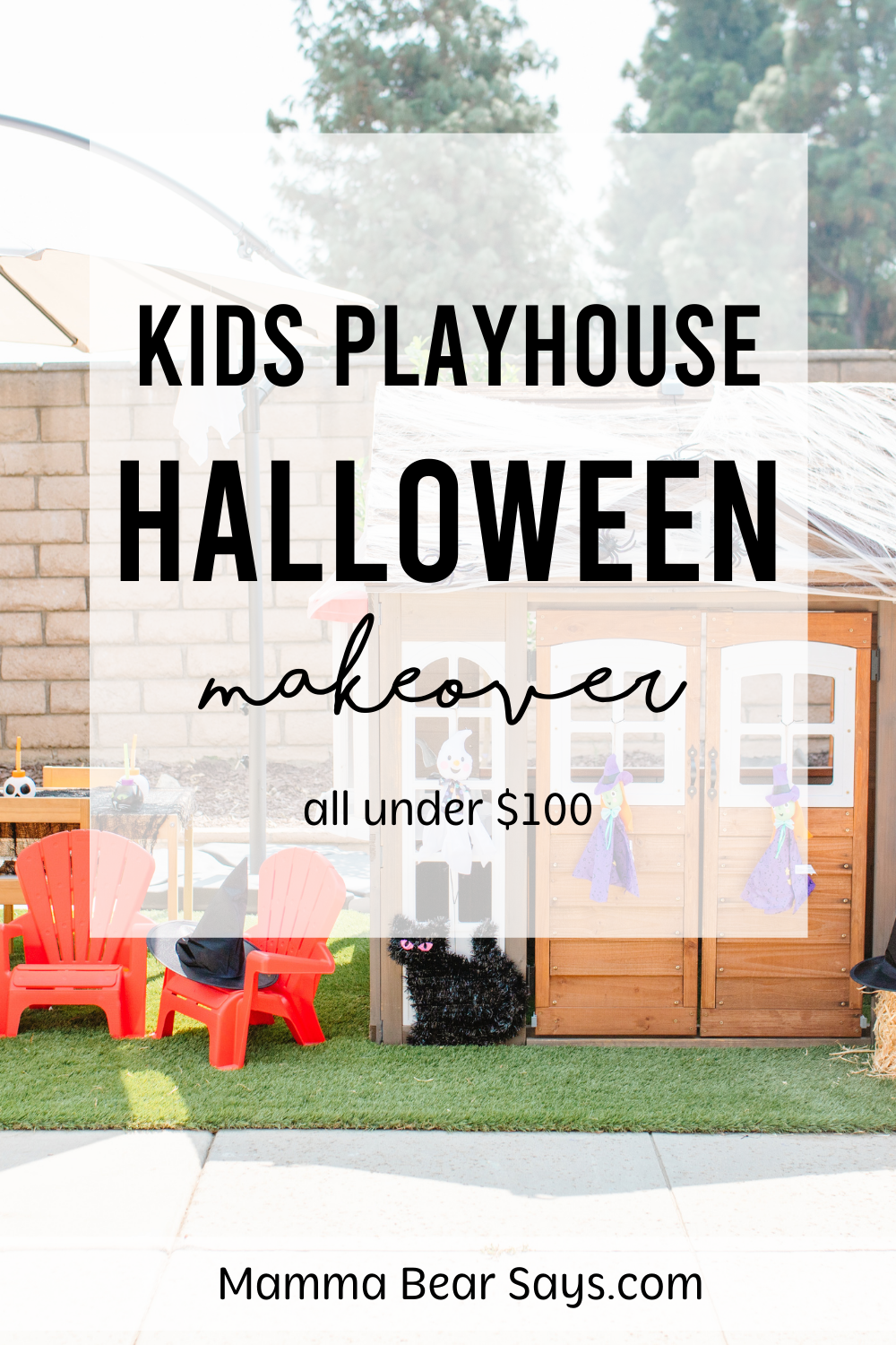 kids playhouse makeover