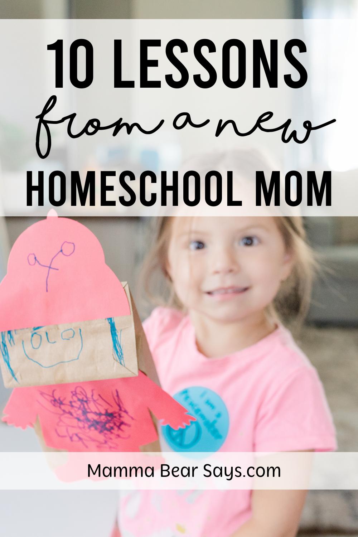 homeschool mom teaching