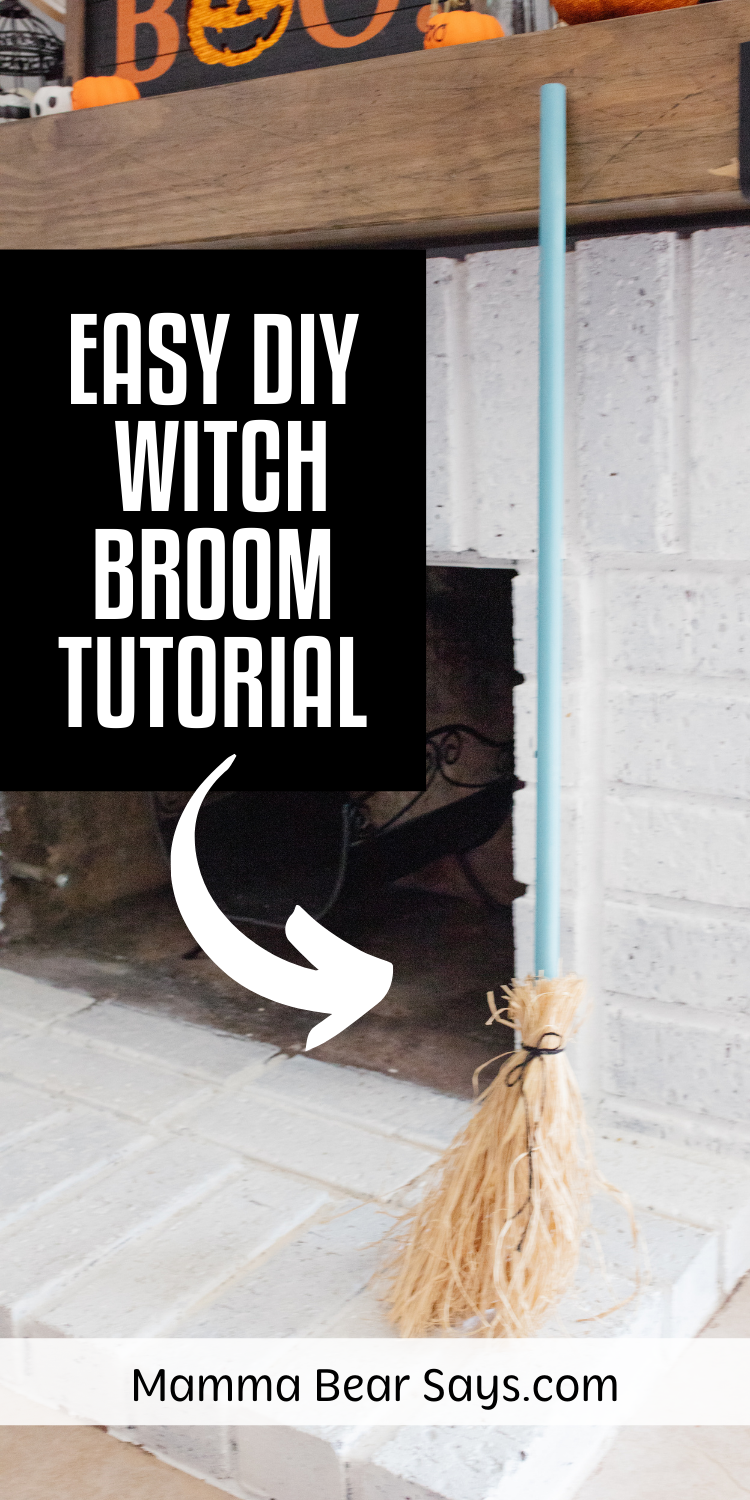 diy witch broom tutorial