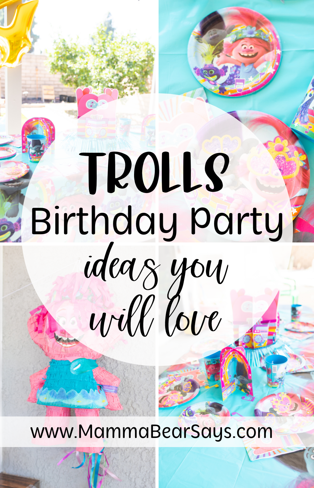 trolls birthday ideas