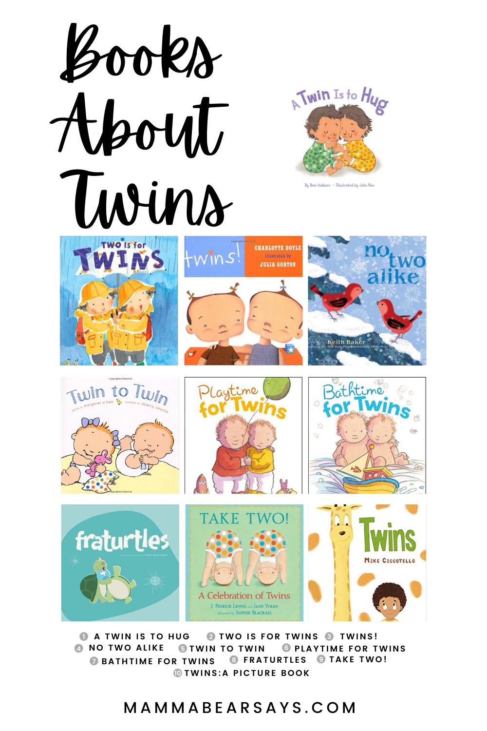 twin book gift guide