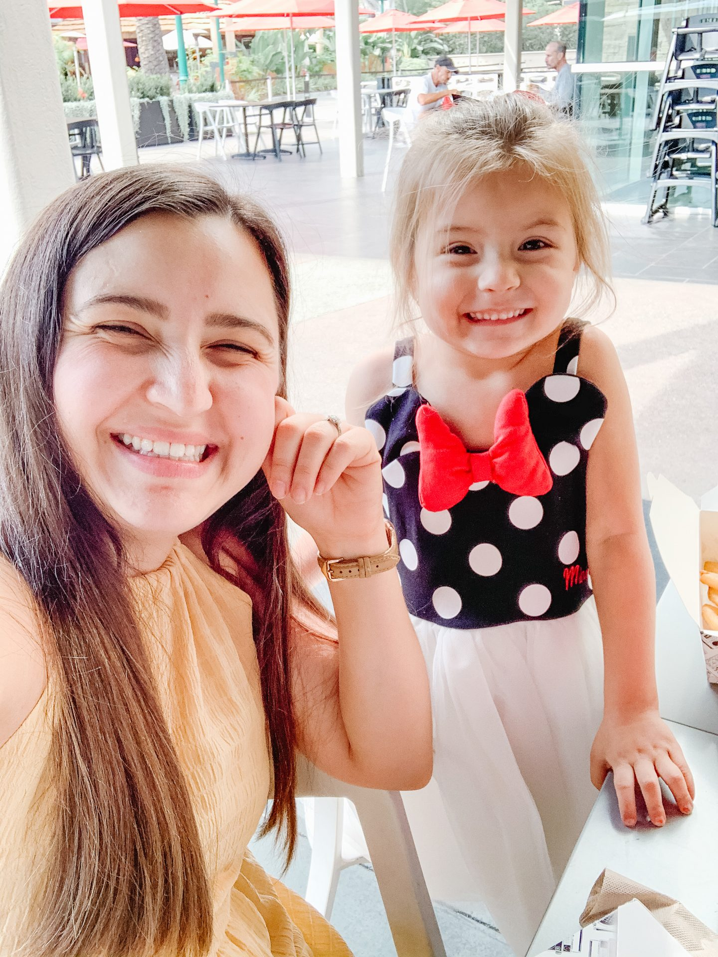 daughter in minnie dress